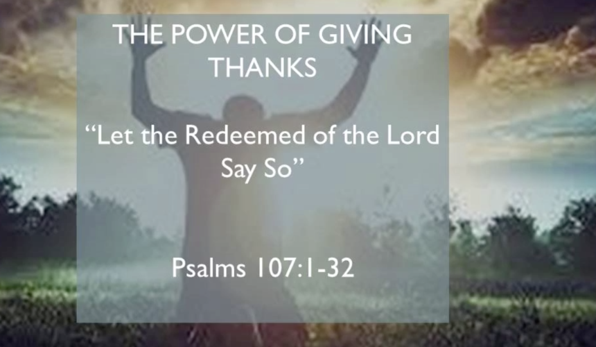 The Power Of Giving Thanks